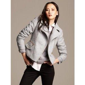 Grey Wool Moto Jacket